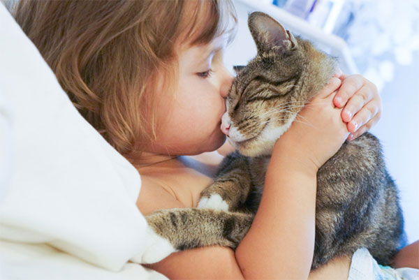 Playing with pets can be like therapy for children and adults