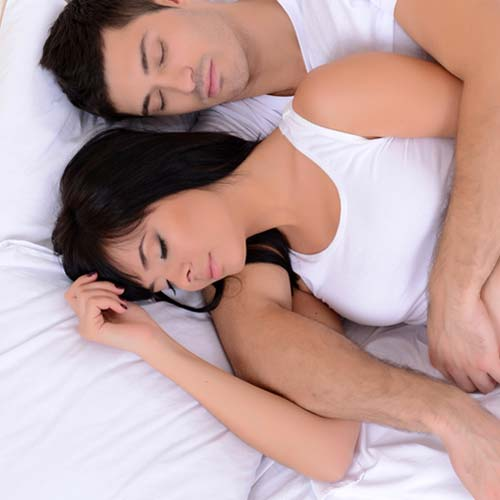 Spooning lets you sleep in the most comfortable position, thus making you sleep better