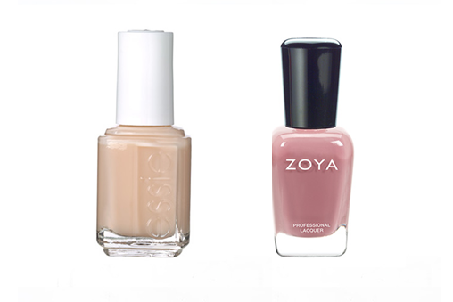 Creamy nude colours and pale peaches work well for olive skin, Nude Nail Paints,