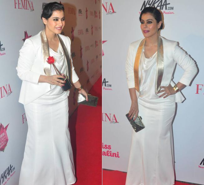 Kajol looked stunning in a skirt suit at the Femina Beauty Awards
