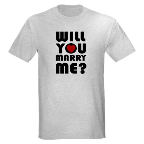 Get creative while expressing your love and give her a T-shirt proposal