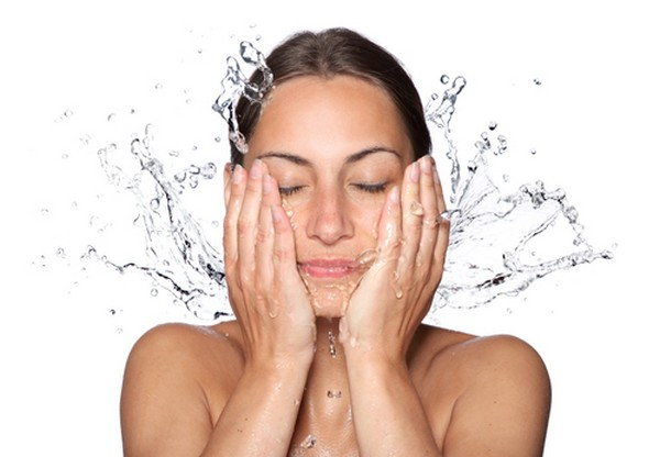 Wash your face with cool or lukewarm water