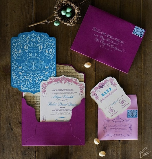 Here's some nice inspiration for a wedding invitation card