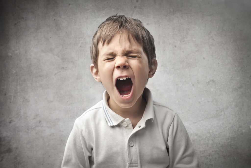 Don't yell at your child when he's angry, you'll only make matters worse