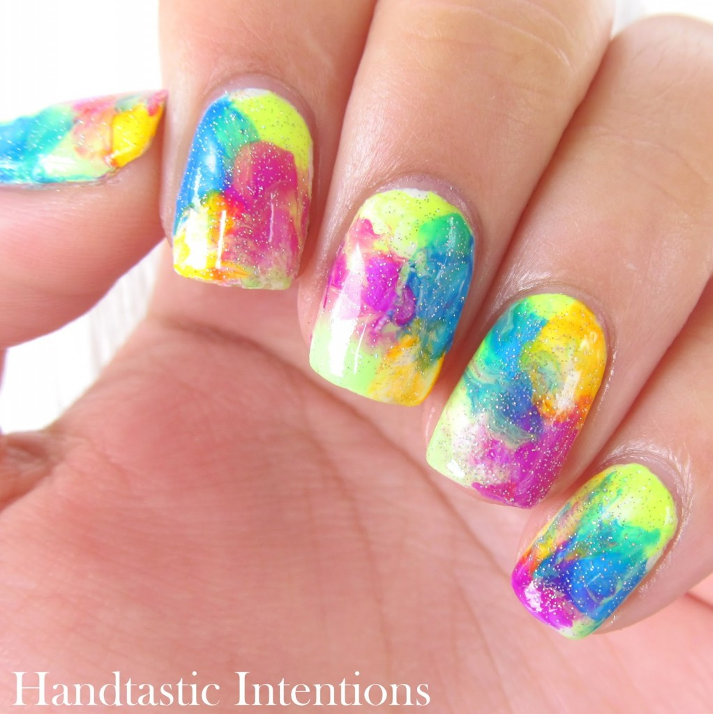 Water marble nails by  Handtastic Intentions