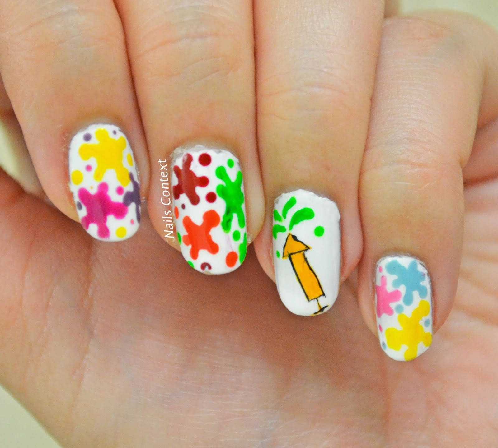 Flaunt This Easy Colourful Holi Themed Nail Art This Season The