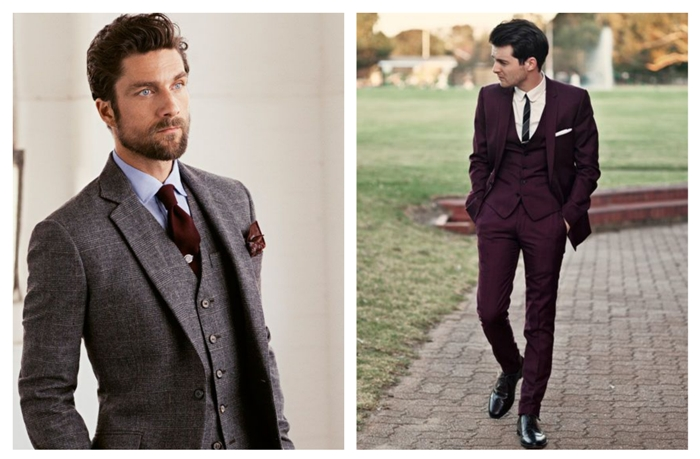 A formal 3-piece suit is a smart choice for any groom