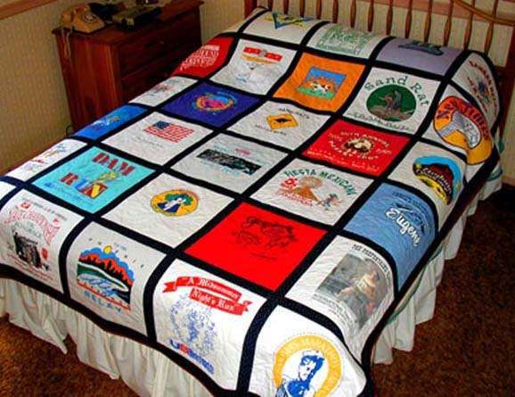 A T-shirt blanket is a great way to sew all your fond memories together!