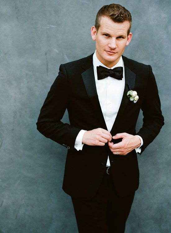 Go the James Bond way by wearing a tux to your wedding