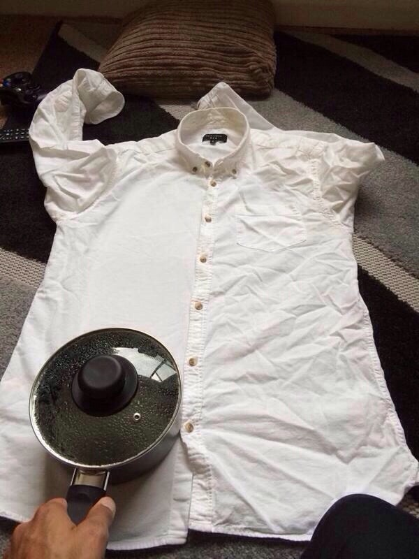 Use a hot pot to iron your clothes,  remove wrinkles from clothes,