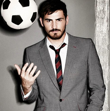 the handsome and dapper footballer Iker Casillas looking hot