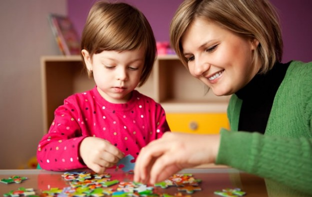 Activities such as solving a puzzle can help children with ADHD build concentration