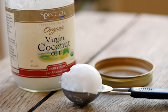 Coconut Oil bottle and scoop, Natural makeup removers,