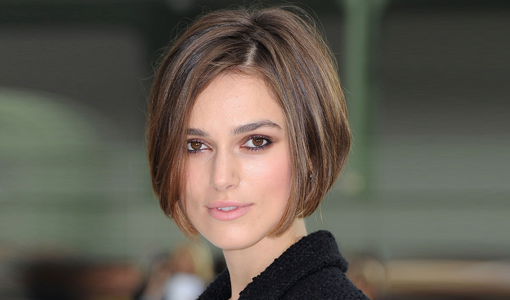 Keira Knightly looks gorgeous in a convex layered bob