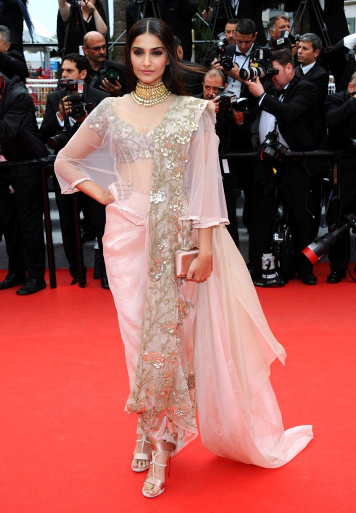 Sonam Kapoor wearing Anamika Khanna at the 67th Cannes International Film Festival