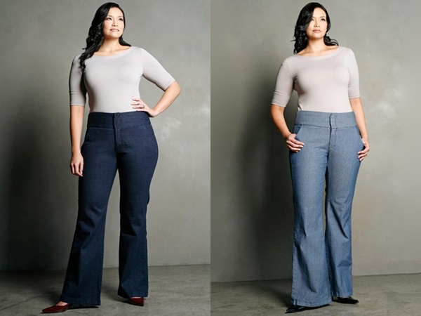 Trouser jeans for Apple-shaped