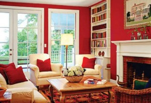 Red increases the room's energy level.