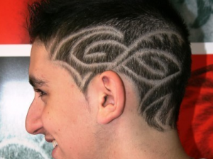 men hair tattoo