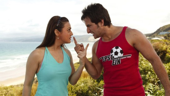 Priety Zinta & Saif Ali Khan in a troubled live-in relationship in 'Salaam Namaste'