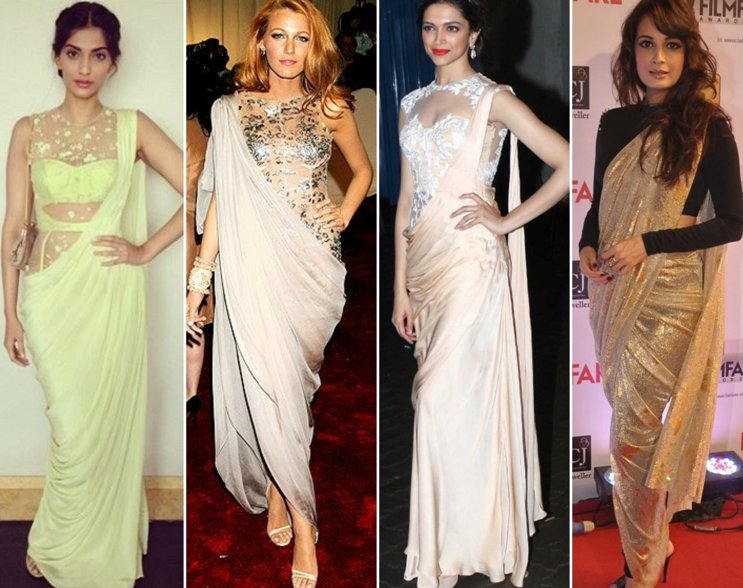 Indo Western Sarees are your best bet at fashion fusion