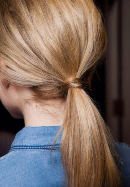 ... A sleek ponytail is a no-hassle style for thin-haired women a0cd5bb6dfd