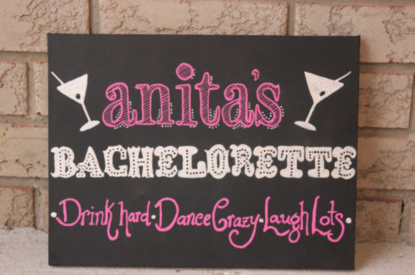 Use a cute chalkboard as a welcome board for your party