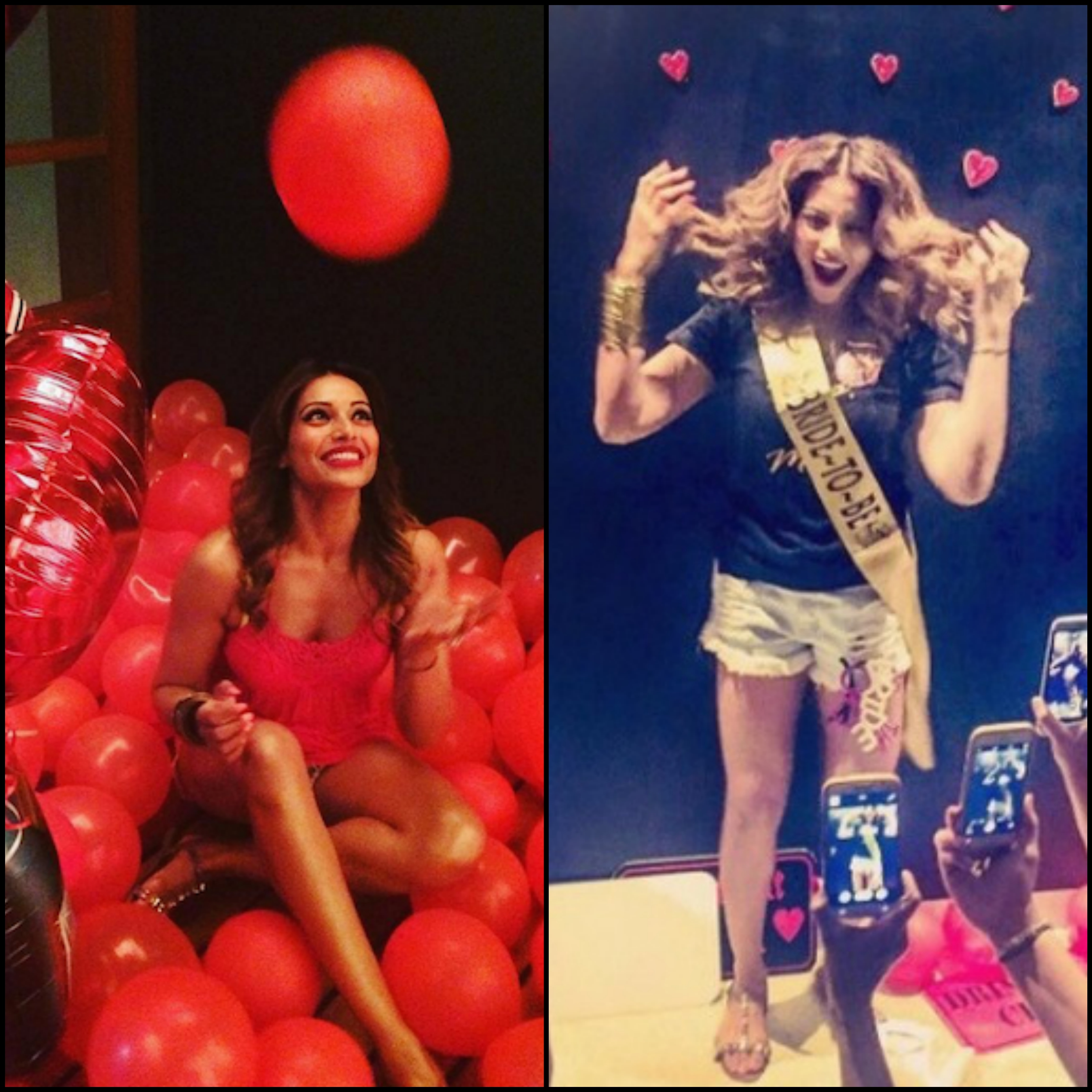 Balloons and sashes always work! Incorporate them in your plans just like Bipasha Basu did