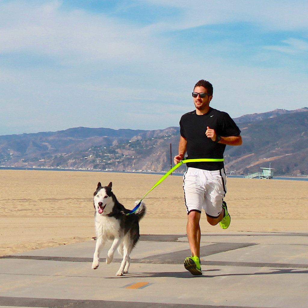 SportLeash_Rec_Pro_Man_Running_on_Beach