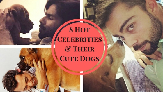 hot bollywood stars and their cute pet dogs
