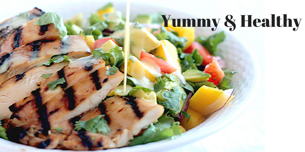 Yummy and Healthy Grilled Chicken and Mango Salad